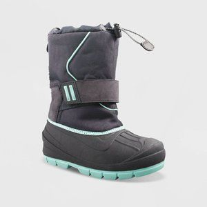 Girls Cordie Winter Snow Boots Gray/Turquoise
